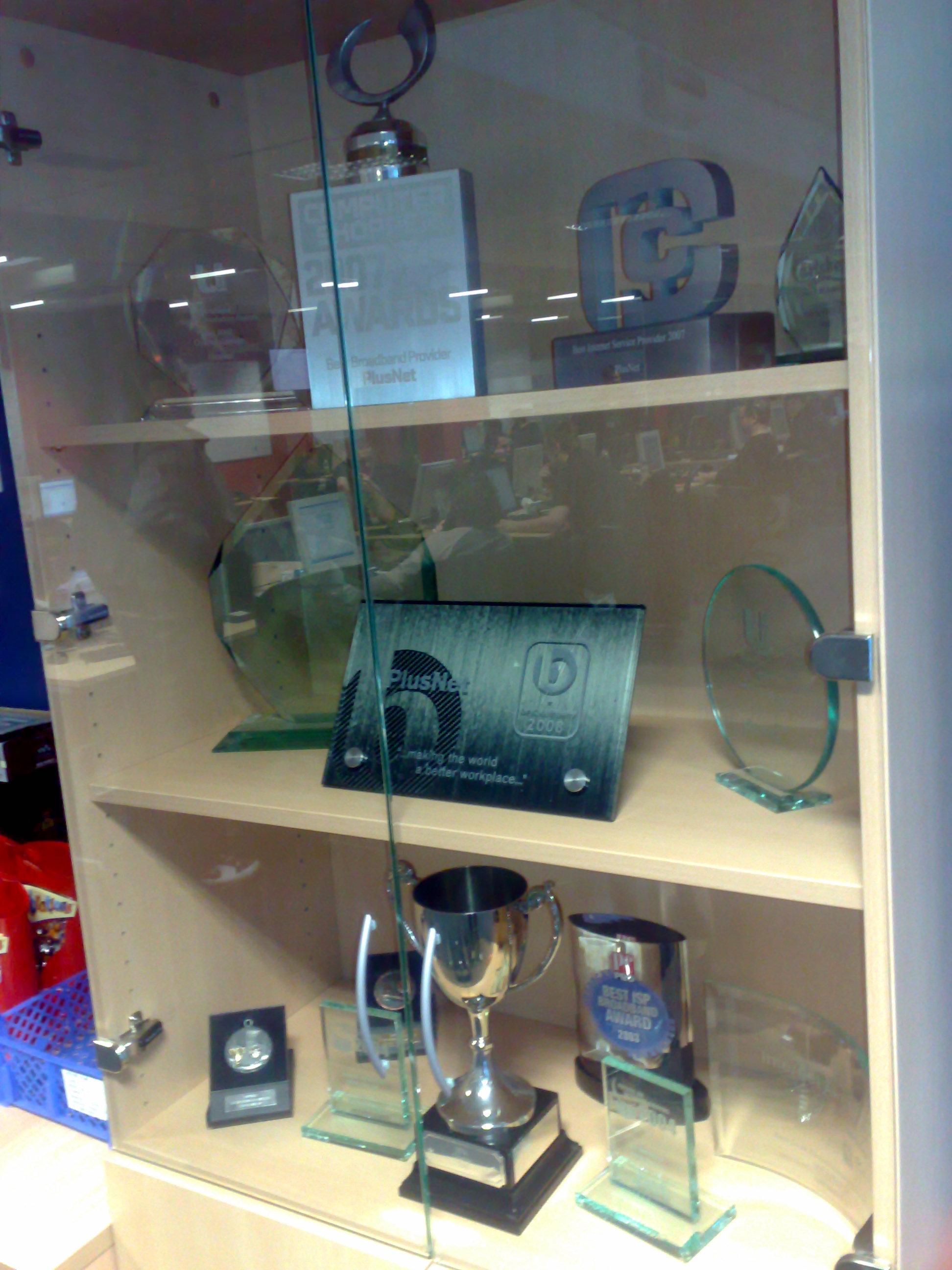 PlusNet trophy cabinet